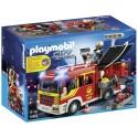 PLAYMOBIL-Camión de Bomberos con Luces y Sonido