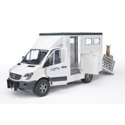 BRUDER- Mercedes Benz - Vehículo de transporte de animales