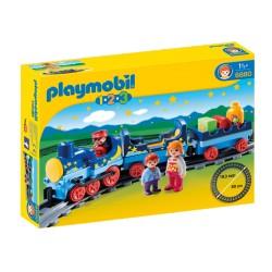 PLAYMOBIL-1.2.3 Tren con Vías