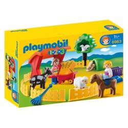 PLAYMOBIL-1.2.3 Recinto de Mascotas