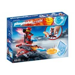 PLAYMOBIL-Androide de Fuego con Lanzador