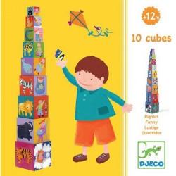 DJECO-Primera Edad 10 Cubos diversión