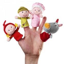 LILLIPUTIENS-Set Marionetas de Dedo: Caperucita Roja
