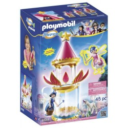 PLAYMOBIL-6688 Torre Flor Mágica con caja musical y Twinkle