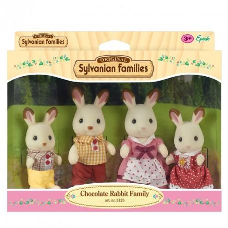 SYLVANIAN Familia Conejos Chocolate