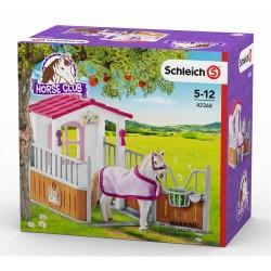 SCHLEICH-Box para caballos con yegua lusitana