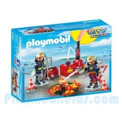 PLAYMOBIL-Equipo de Bomberos