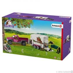 SCHLEICH-Camioneta remolque Caballo