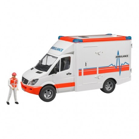 BRUDER-AMBULANCIA C/CONDUCTOR
