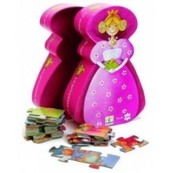 DJECO-Puzzle Silueta La Princesa