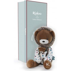 Kaloo-Muñeco de peluche Oso Gaston, 40 cm