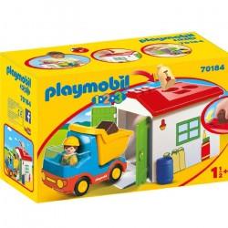 Playmobil 1.2.3 Camión con Garaje