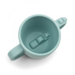 Done by Deer Peekaboo 2-handle cup Croco Blue